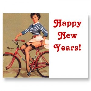 vintage_bicycle_pinup_girl_happy_new_years_postcard