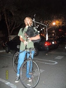 Bagpipes on a Bike