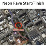 Neon Rave Ride Start Finish Sat