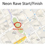 Neon Rave Ride Start Finish Map