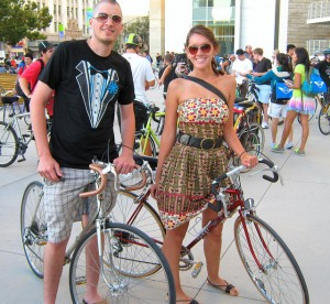 Bike Party Couple