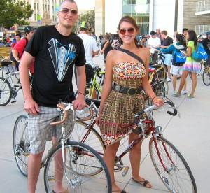 Bike Party Couple