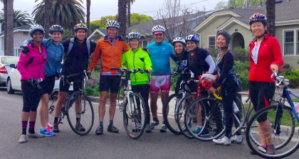 SJSU's Green Ninja Team prepares for this years Climate Ride.