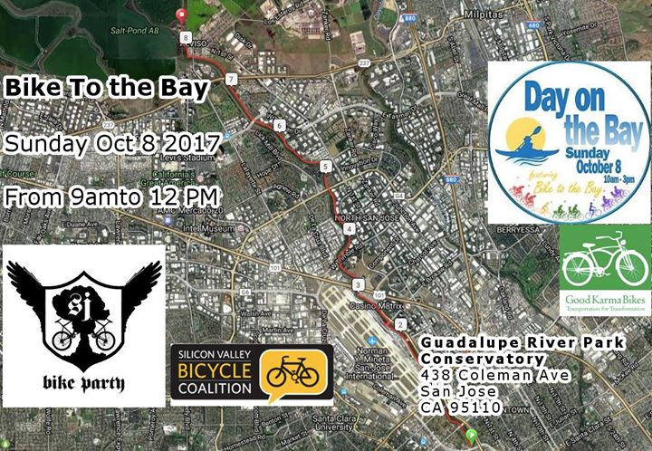 We Invite You To Join Us On The Bike To The Bay Where We Will Ride Up The Guadalupe River Trail To Santa Clara County S Fantastic Day On The Bay Event