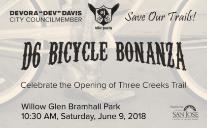 D6 Bicycle Bonanza with San José Council Member Dev Davis