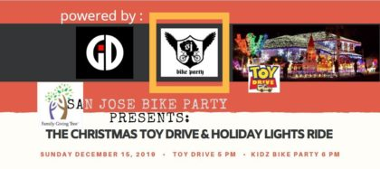 SJBP Kidz Bike Party Holiday Lights Ride 2019