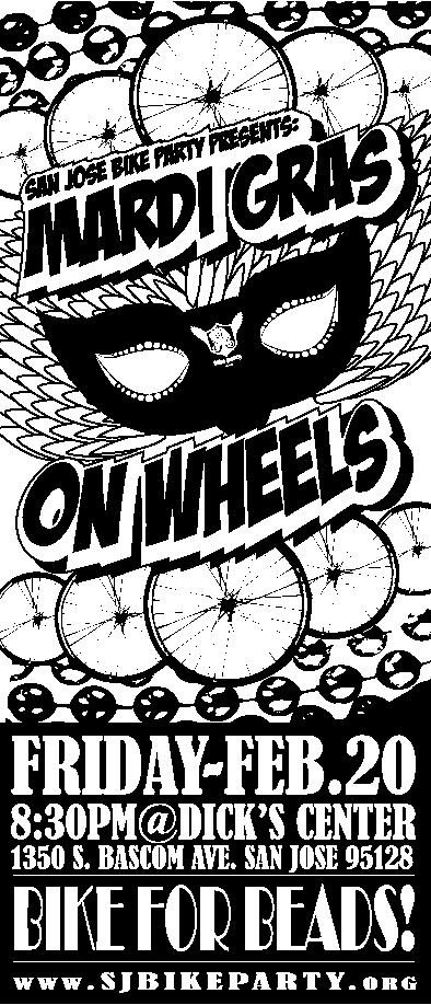 February Ride-Mardi Gras on Wheels!
