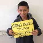 Jose one of the many kids the Coop inspires by bikes.