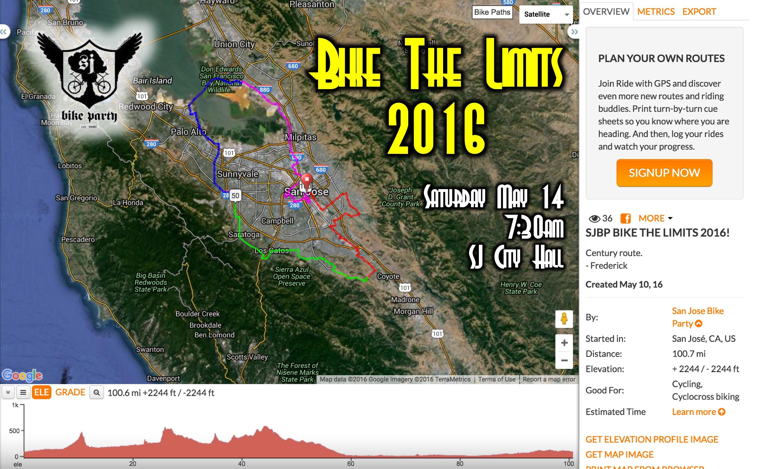 Bike The Limits 2016 – May 14, 2016